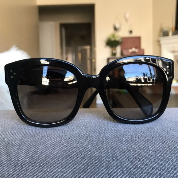 383a6a0a44d Celine Accessories - Celine black oversized Audrey sunglasses
